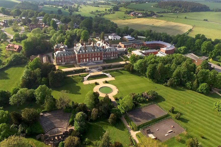 Aerial view Bryanston grounds